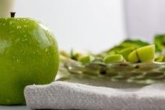 Maçãs e salada da manjericão Imagem de Stock Royalty Free