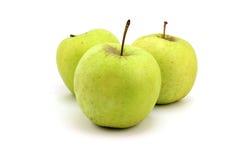 Maçãs maduras verdes Foto de Stock