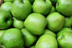Maçãs verdes Foto de Stock