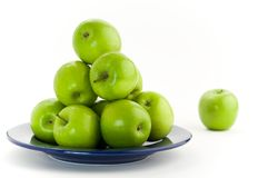 Maçãs verdes Imagens de Stock