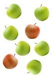Maçãs verdes e vermelhas Fotografia de Stock