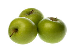Maçãs verdes isoladas Fotos de Stock