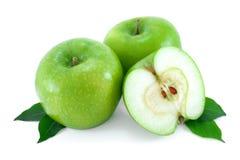 Maçãs verdes, maduras. Foto de Stock