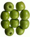 Maçãs verdes maduras frescas Imagens de Stock Royalty Free