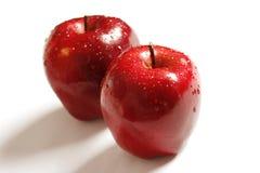 Maçãs vermelhas frescas Foto de Stock Royalty Free