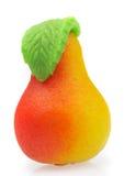 Maçapão dos doces. Sob a forma de uma pera fotografia de stock