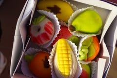 Maçapão-pastelarias Foto de Stock Royalty Free