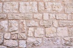 Maçonnerie antique de grandes pierres du mur dans la partie historique de la ville de Jérusalem Photographie stock libre de droits