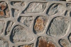 Maçonnerie de granit avec la texture concrète Images stock