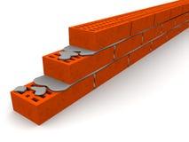 Maçonnerie faite de briques de silicate illustration libre de droits
