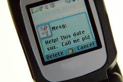 Mán mensaje de la fecha foto de archivo libre de regalías