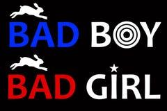 Mán muchacho y mala muchacha Imagen de archivo
