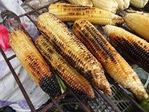 Maíz asado a la parrilla en el mercado en México Fotografía de archivo libre de regalías