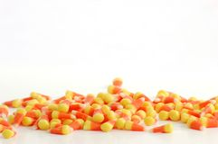 Maíz de caramelo en el contexto blanco Fotos de archivo libres de regalías