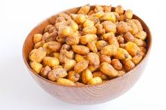 maíz de los granos frito Imagen de archivo libre de regalías