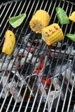 Maíz y paprika de la barbacoa Foto de archivo