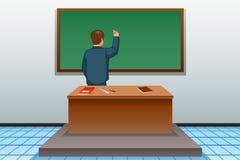 Maître d'école Writing sur l'illustration de tableau noir illustration libre de droits