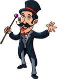 Maître d'anneau de cirque de bande dessinée Photo libre de droits