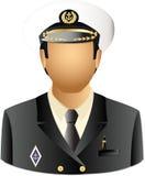Maître d'un bateau illustration de vecteur