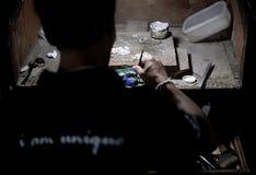 Maître de bijou d'usine Images libres de droits