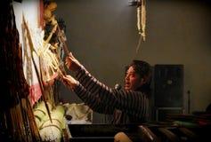 Maître de marionnette d'ombre de Javanese Images libres de droits