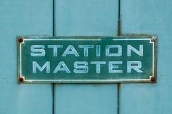 Maître de station Images libres de droits