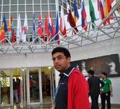 Maître grand Anand Viswanathan d'échecs Images stock