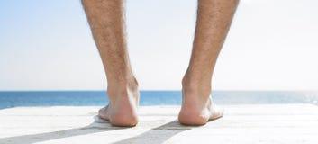 Maître nageur à la plage photographie stock libre de droits