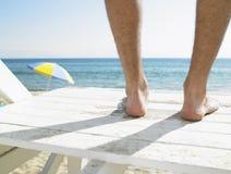 Maître nageur à la plage image libre de droits