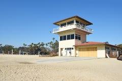 Maître nageur Building de plage d'état de Doheny Image libre de droits