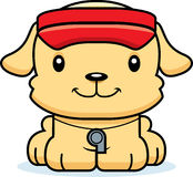 Maître nageur de sourire Puppy de bande dessinée Photo stock