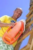 Maître nageur en service Photo stock