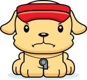 Maître nageur fâché Puppy de bande dessinée Images stock