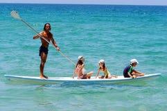 Maître nageur israélien sur le littoral de la mer Méditerranée Images libres de droits