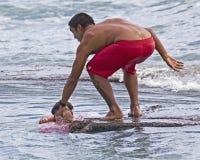 Maître nageur Rescue Photo stock