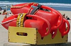 Maître nageur Rescue Buoys (boîtes de délivrance) Images libres de droits