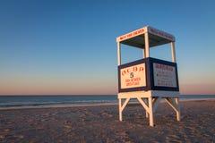 Maître nageur Stand, ville d'océan, NJ Photo libre de droits