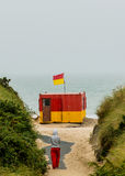 Maître nageur Station à la baie de Brittas Photo stock