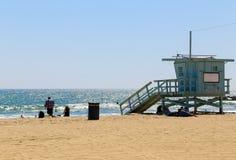 Maître nageur Station en plage de Venise Images libres de droits