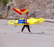 Maître nageur sur la plage Images stock