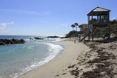 Maître nageur Tower sur la côte Images libres de droits