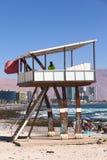 Maître nageur Watchtower sur la plage de Cavancha dans Iquique, Chili Image stock