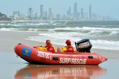 Maître nageurs australiens dans l'Australie de la Gold Coast Queensland Photo libre de droits