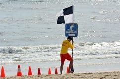Maître nageurs australiens dans l'Australie de la Gold Coast Queensland Photographie stock libre de droits