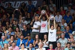 Maîtres de tour du monde de basket-ball de FIBA 3X3 - foule image libre de droits