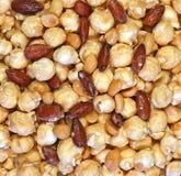 Maïs éclaté beurré d'arachide d'amande de caramel image libre de droits