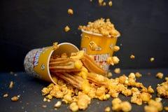 Maïs éclaté Churros de caramel Image libre de droits