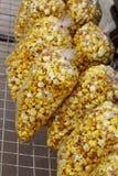 Maïs éclaté dans le sac Photographie stock libre de droits