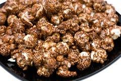 Maïs éclaté de chocolat image stock