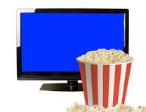 Maïs éclaté et affichage à cristaux liquides moderne TV Photo libre de droits